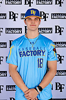 Jimmy Obertop (18) of Westminster Christian Academy in St. Louis, Missouri during the Baseball Factory All-America Pre-Season Tournament, powered by Under Armour, on January 12, 2018 at Sloan Park Complex in Mesa, Arizona.  (Mike Janes/Four Seam Images)