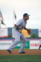 Trenton Thunder third basmean Cito Culver (6) during a game against the Binghamton Mets on August 8, 2015 at NYSEG Stadium in Binghamton, New York.  Trenton defeated Binghamton 4-2.  (Mike Janes/Four Seam Images)