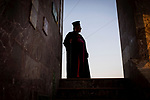 Irak, Juni 2014 - Portrait vom amtieren Bischof Johanna Potras Moshe. [Er ist einer der fuehrenden Koepfe] von Karakosch, Die irakische Stadt Karakosch beheimatet die letzten Christen im Irak.  <br /> <br /> Engl.: Asia, Iraq, North Iraq, conflict area, Karakosh, portrait of the officiating bishop Johanna Potras Moshe, the last Christians in Iraq are domiciled in Karakosh, June 2014