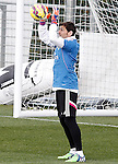 Real Madrid's Iker Casillas during training session.January 30,2015.(ALTERPHOTOS/Acero)