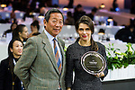 Dr Simon Ip at the prize ceremony of Hong Kong Jockey Club Trophy, part of the Longines Masters of Hong Kong on 10 February 2017 at the Asia World Expo in Hong Kong, China. Photo by Juan Serrano / Power Sport Images