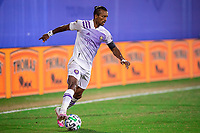 LAKE BUENA VISTA, FL - JULY 20: Nani #17 of Orlando City SC dribbling the ball during a game between Orlando City SC and Philadelphia Union at Wide World of Sports on July 20, 2020 in Lake Buena Vista, Florida.