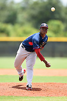 GCL Red Sox pitcher Yankory Pimentel (50) delivers a pitch during a game against the GCL Rays on June 24, 2014 at Charlotte Sports Park in Port Charlotte, Florida.  GCL Red Sox defeated the GCL Rays 5-3.  (Mike Janes/Four Seam Images)