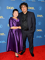LOS ANGELES, USA. January 25, 2020:  Lee Jeong-eun & Bong Joon-ho at the 72nd Annual Directors Guild Awards at the Ritz-Carlton Hotel.<br /> Picture: Paul Smith/Featureflash