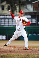 St. John's Redstorm pitcher Ryan McCormick (21) during game against the University of Pittsburgh at Jack Kaiser Stadium on March 22, 2013 in Queens, New York.  Pittsburgh defeated St. John's 12-9.  (Tomasso DeRosa/Four Seam Images)