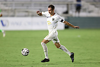 CARY, NC - AUGUST 01: Jake Rufe #13 plays the ball during a game between Birmingham Legion FC and North Carolina FC at Sahlen's Stadium at WakeMed Soccer Park on August 01, 2020 in Cary, North Carolina.