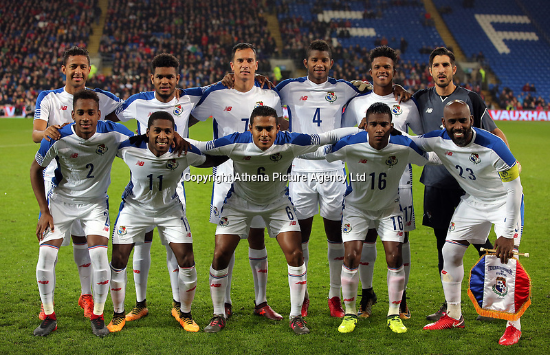 Panama team pose for a picture before kick off during the international friendly soccer match between Wales and Panama at Cardiff City Stadium, Cardiff, Wales, UK. Tuesday 14 November 2017.