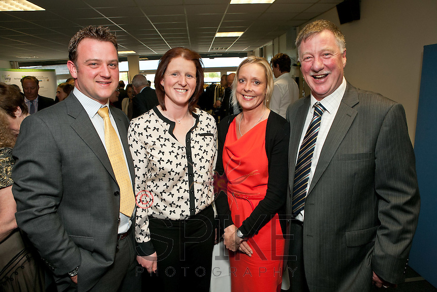 Pictured from left are Michael and Kirsty Hardstaff with Sally and Roger Jackson