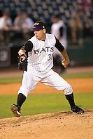 Louisville relief pitcher Jon Coutlangus (31) in action versus Indianapolis at Louisville Bats Field in Louisville, KY, Wednesday, August 8, 2007.