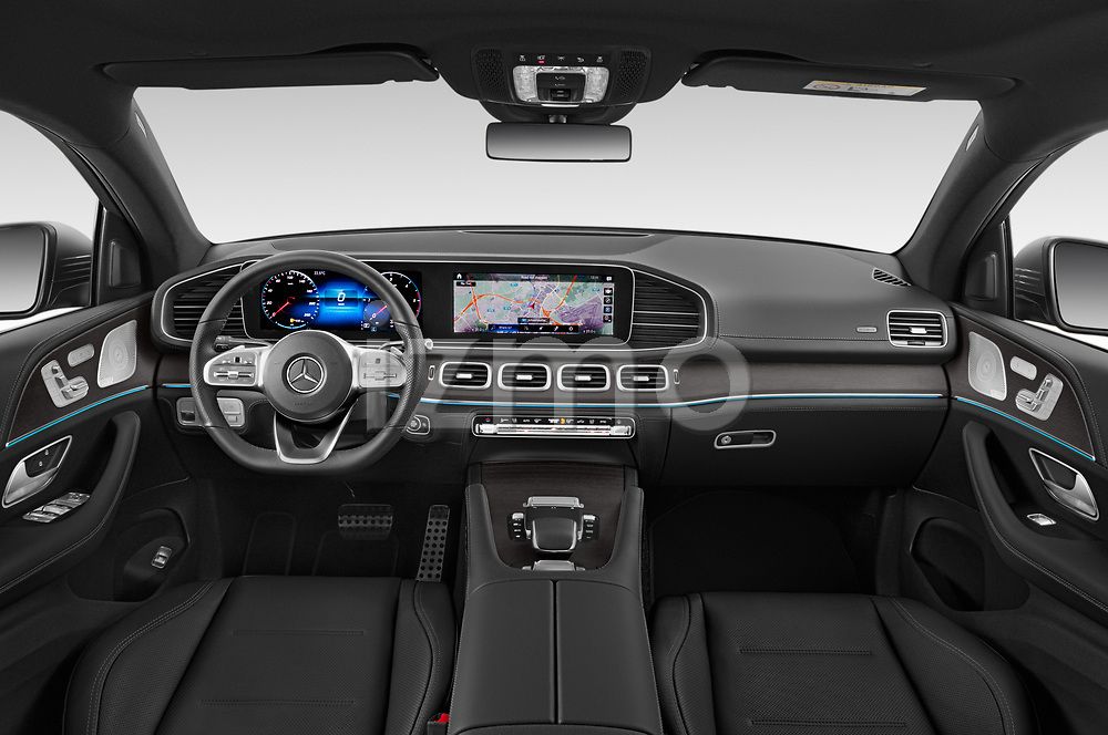 Stock photo of straight dashboard view of 2020 Mercedes Benz GLE - 5 Door SUV Dashboard