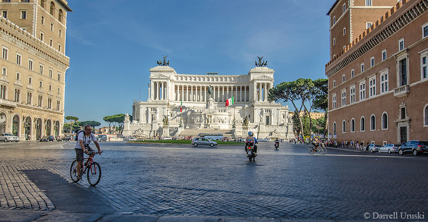 "Travel Print Photograph. Architectural street photograph of The Monumento Nazionale a Vittorio Emanuele II or Altare della Patria or ""Il Vittoriano"" is a monument built to honour Victor Emmanuel, the first king of a unified Italy.  <br />