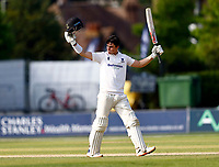Ali Orr celebrates his hundred for Sussex during Kent CCC vs Sussex CCC, LV Insurance County Championship Group 3 Cricket at The Spitfire Ground on 13th July 2021