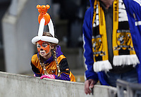A Hull City with a painted face during the Capital One Cup match between Hull City and Swansea City played at the Kingston Communications Stadium, Hull