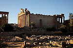 July 2010, LEBANON: The Temple of Bacchus stands in the afternoon light amidst the Bekaa Valley's famed  Roman ruins.  Picture by Graham Crouch