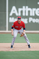 Boston Red Sox third baseman Triston Casas (19) during a Florida Instructional League game against the Baltimore Orioles on September 21, 2018 at JetBlue Park in Fort Myers, Florida.  (Mike Janes/Four Seam Images)