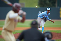 North Carolina Tar Heels relief pitcher Taylor Sugg (25) delivers a pitch to the plate against the Florida State Seminoles in the 2017 ACC Baseball Championship Game at Louisville Slugger Field on May 28, 2017 in Louisville, Kentucky. The Seminoles defeated the Tar Heels 7-3. (Brian Westerholt/Four Seam Images)