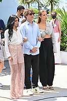 CANNES, FRANCE. July 13, 2021: Kenza Fortas, Cedrice Jimenez & Adele Exarchopoulos at the photocall for Bac Nord at the 74th Festival de Cannes.<br /> Picture: Paul Smith / Featureflash