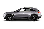 Car Driver side profile view of a 2015 Infiniti QX70 S 5 Door Suv Side View