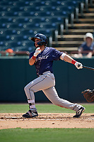 Binghamton Rumble Ponies Michael Paez (7) bats during an Eastern League game against the Bowie Baysox on August 21, 2019 at Prince George's Stadium in Bowie, Maryland.  Bowie defeated Binghamton 7-6 in ten innings.  (Mike Janes/Four Seam Images)
