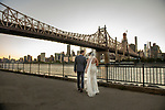 Kristin and Steve's<br /> NYC Covid Sunset Wedding<br /> Queensboro Bridge Park and Manhattan Rooftop