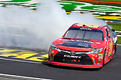 2017 NASCAR Xfinity Series<br /> My Bariatric Solutions 300<br /> Texas Motor Speedway, Fort Worth, TX USA<br /> Saturday 8 April 2017<br /> Erik Jones, Game Stop/ GAEMS Toyota Camry celebrates his win with a burnout<br /> World Copyright: Russell LaBounty/LAT Images<br /> ref: Digital Image 17TEX1rl_2599