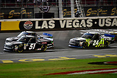 #51: Brandon Jones, Kyle Busch Motorsports, Toyota Tundra Delta Faucet/Menards and #24: Justin Haley, GMS Racing, Chevrolet Silverado Fraternal Order Of Eagles