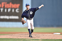 Asheville Tourists starting pitcher Kyle Freeland #36 delivers a pitch during a game against the Augusta GreenJackets at McCormick Field August 16, 2014 in Asheville, North Carolina. The GreenJackets defeated the Tourists 5-0. (Tony Farlow/Four Seam Images)