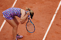 5th June 2021; Roland Garros, Paris France; French Open tennis championships day 7;  Sofia Kenin of the United States reacts during for her singles third round match between versus Jessica Pegula of the United States