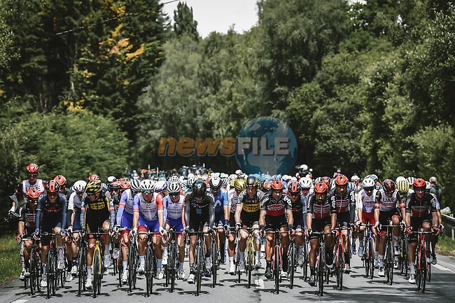 The start of Stage 3 of the 2021 Tour de France, running 182.9km from Lorient to Pontivy, France. 28th June 2021.  <br /> Picture: A.S.O./Pauline Ballet   Cyclefile<br /> <br /> All photos usage must carry mandatory copyright credit (© Cyclefile   A.S.O./Pauline Ballet)