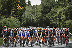 The start of Stage 3 of the 2021 Tour de France, running 182.9km from Lorient to Pontivy, France. 28th June 2021.  <br /> Picture: A.S.O./Pauline Ballet | Cyclefile<br /> <br /> All photos usage must carry mandatory copyright credit (© Cyclefile | A.S.O./Pauline Ballet)