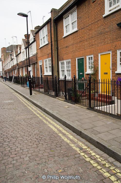 Housing in Ranston Street, Marylebone, developed by social reformer Octavia Hill in 1895.