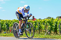 17th July 2021, St Emilian, Bordeaux, France;  IZAGUIRRE INSAUSTI Ion (ESP) of ASTANA - PREMIER TECH during stage 20 of the 108th edition of the 2021 Tour de France cycling race, an individual time trial stage of 30,8 kms between Libourne and Saint-Emilion.