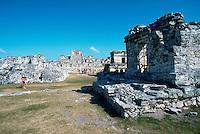 Ancient Mayan ruins. Tulum Quintana Roo, Mexico.