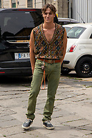 Milan,Italy - 20 th june 2021 - Kean Etro fashion show for Milano fashion week Men's collection 18-22 june 2021 - boy posing before the show