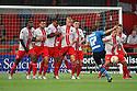 Michael Brown of Leeds goes close with a free-kick<br />  Stevenage v Leeds United - Pre-season friendly - Lamex Stadium, Stevenage - 23rd July, 2013<br />  © Kevin Coleman 2013