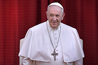 Pope Francis during of general audience in the San Damaso's courtyard in Vatican.June 9, 2021