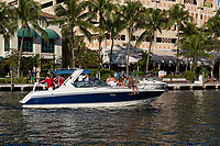 Ft. Lauderdale, Florida.  Pleasure Boating on New River.