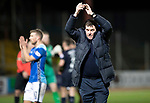 Dundee v St Johnstone…29.12.18…   Dens Park    SPFL<br />Tommy Wright applauds the fans at full time<br />Picture by Graeme Hart. <br />Copyright Perthshire Picture Agency<br />Tel: 01738 623350  Mobile: 07990 594431