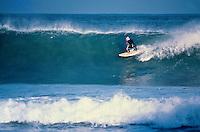 Cheyne Horan (AUS surfing at Bells Beach, Torquay, Australia during the running of the 1981 Rip Curl Pro. Photo: joliphotos.com