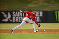 AZL Angels third baseman Julio Garcia (3) on defense against the AZL White Sox on August 14, 2017 at Diablo Stadium in Tempe, Arizona. AZL Angels defeated the AZL White Sox 3-2. (Zachary Lucy/Four Seam Images)