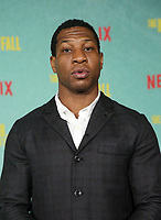 LOS ANGELES, CA - OCTOBER 13: Jonathan Majors, at the Special Screening Of The Harder They Fall at The Shrine in Los Angeles, California on October 13, 2021. Credit: Faye Sadou/MediaPunch