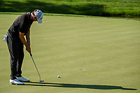 4th June 2021; Dublin, Ohio, USA; Patrick Cantlay (USA) watches his birdie putt on 9 during the Memorial Tournament Rd2 at Muirfield Village Golf Club on June 4, 2021 in Dublin, Ohio.