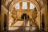 Boston Public Library staircase, Boston, MA (architect = McKim, Meade & White). Copley Square