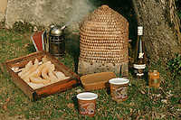 Europe/France/Aquitaine/24/Dordogne/Périgord Noir/Auriac-du-Périgord: Ecomusée de l'abeille - Apiculture - Miel, bouteille d'hydromel