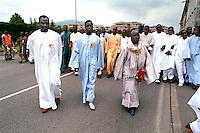 - festivity of immigrates from Senegal of Muslem Murida religion ....- festa degli immigrati Senegalesi di religione mussulmana Murida