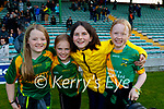 Kilmoyley supporters at the Kerry Senior Hurling Championship Final on Sunday in Austin Stack Park l-r: Kelly Regan, Molly Gaynor, Edel O'Connor and Chloe Horgan.