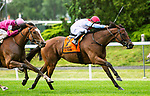 JUNE 04, 2021 : Mean Mary with Luis Saez aboard, wins the Gr.2 New York  Stakes, at 1 1/4  mile on the turf, at Belmont Park, Elmont, NY. Sue Kawczynski-Eclipse Sportswire-CSM