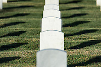 Grave markers of veteran soldiars, Arlington Cemetery, Virginia, USA
