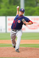 Relief pitcher Shane McCatty #26 of the Hagerstown Suns in action against the Rome Braves at State Mutual Stadium on May 1, 2011 in Rome, Georgia.   Photo by Brian Westerholt / Four Seam Images