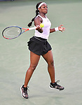 August  14, 2019:  Sloane Stephens (USA) defeated Yulia Putintseva (KAZ) 2-6, 6-4, 6-3, at the Western & Southern Open being played at Lindner Family Tennis Center in Mason, Ohio. ©Leslie Billman/Tennisclix/CSM